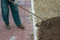 Yard Leveling Work  4 Royalty Free Stock Image