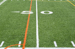 The 50 yard line Stock Photography