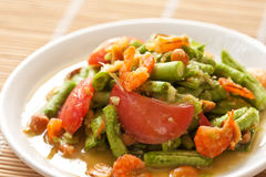 Yard long bean salad Stock Photo