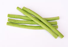Yard long bean. On the white background Stock Photo