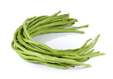 Yard Long bean on white background Stock Photos