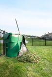 Yard maintenance in spring Royalty Free Stock Photography