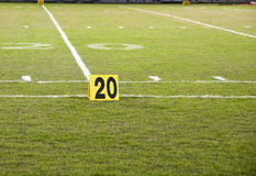 Yard Marker Stock Photo