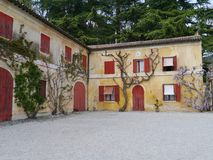 The yard of the Maser villa in Italy Stock Images