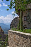 Yard of a monastery in Meteora, Greece Stock Photography