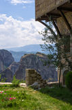 Yard of a monastery in Meteora, Greece Royalty Free Stock Image