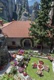 Yard of monastery in Meteora, Greece Stock Photos