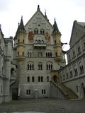 At the yard of Neuschwanstein. At the yard of one of the most wonderful and exciting castles in the world - Neuschwanstein Stock Photography