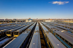 Yard New York City de train Photographie stock libre de droits