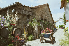 Yard of old times in Tihany at Lake Balaton, Hungary Stock Images