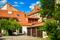Yard in the old town of Vilnius Stock Images