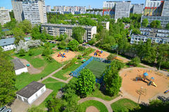 Yard with playgrounds in Zelenograd, Moscow Royalty Free Stock Image