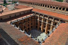 Yard of Pontifical University of Salamanca Royalty Free Stock Photo
