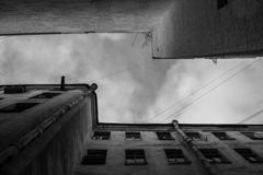 Yard-puits à St Petersburg images libres de droits