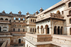 Yard of the Raj Mahal palace at Orcha ,India Stock Images
