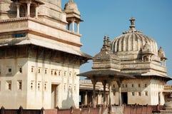 Yard of the Raj Mahal palace at Orcha ,India. Madhya Pradesh, it is a mixture of Indo-Islamic architecture Royalty Free Stock Image