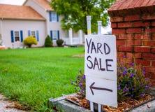 Yard sale. Closeup image of a yard sale sign Stock Photography