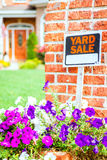 Yard sale. Closeup image of a yard sale sign Stock Images