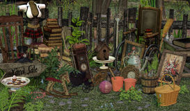 Yard Sale 3D,CG Stock Images