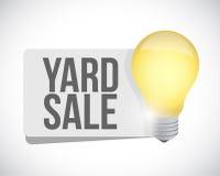 Yard Sale light bulb sign concept illustration Royalty Free Stock Photos