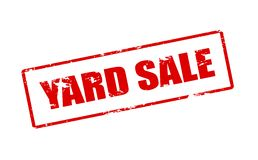 Yard sale. Rubber stamp with text yard sale inside,  illustration Royalty Free Stock Photos