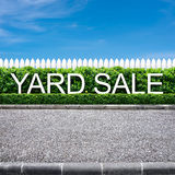 Yard sale sign. On the road side Royalty Free Stock Images