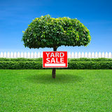 Yard sale sign. On tree Royalty Free Stock Image