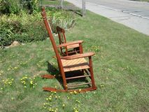 Rocking chair yard sale Royalty Free Stock Images