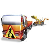 Yard scraper truck Royalty Free Stock Images