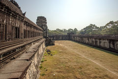 The yard between second and third enclosure, Angkor, Siem Riep, Cambodia. The yard between second and third enclosures, Angkor, Siem Riep, Cambodia. The lake in Stock Photos
