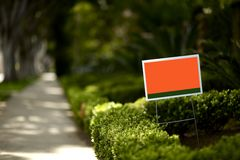 Yard Sign Stock Image
