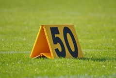 50 yard sign Stock Photography