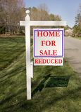 Yard sign for home sales Stock Image