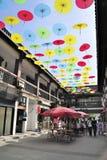 Yard,Silk parasol Stock Photography