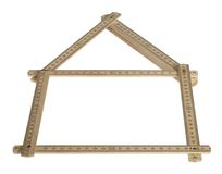Yard stick house Royalty Free Stock Images