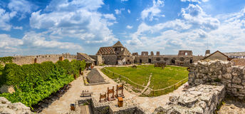 Yard of Sumeg castle Stock Photo