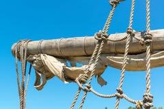 Yard and tackles of the sailing ship Stock Images