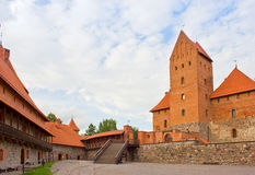 Yard of Tracai castle, Lithuania Royalty Free Stock Photos