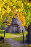 Yard Ukrainian villager Region Polesie. National Museum of Folk Architecture and Life Pyrohovo royalty free stock image