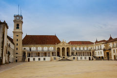 yard of university in Coimbra, Portugal Stock Photography