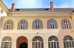 Yard of Uzhhorod Castle in Ukraine Stock Image