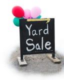 Yard-Verkaufs-Ramschverkauf-Zeichen Lizenzfreie Stockbilder