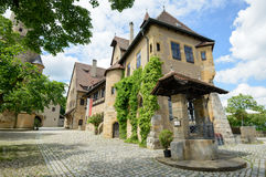 Yard view on the Altenburg Castle, Bamberg stock images