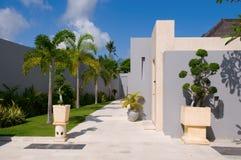 Yard of villa Stock Photo