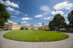Yard of Wilanow palace in Warsaw Royalty Free Stock Images