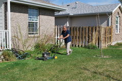 Yard work. Stock Photography