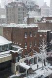 Yarda de Amster de la escena del invierno Foto de archivo