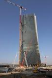 Yarda de la construcción del Hadid Tover en Citylife; Milán Imagen de archivo libre de regalías