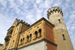 Yarda de la corte del castillo de Neuschwanstein Imagenes de archivo