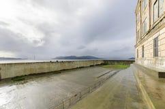Yarda de la reconstrucción de Alcatraz, San Francisco, California Fotografía de archivo libre de regalías